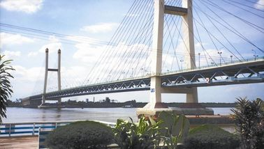 Suspensi Deck Cable Stay Bridges Permanen Dengan Kabel Lurus